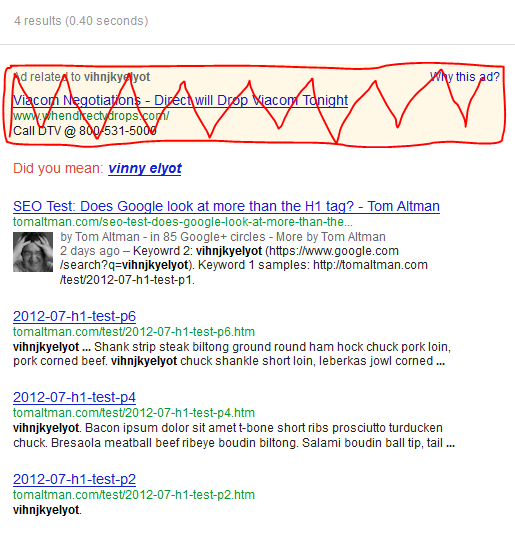 SEO Test: Does Google look at more than the H1 tag?