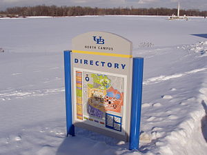 A winter picture of a UB Directory of North Ca...